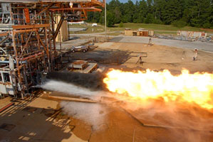 The Dynetics-Aerojet Rocketdyne F-1B SLM Gas Generator Injector is hotfire tested at NASA's Marshall Space Flight Center.